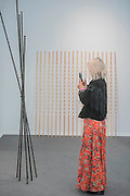 Works by Terry Fox in the Anglim Gilbert Gallery - Frieze Masters London 2016, Regents Park, London. It covers several thousand years of art from 130 of the world's leading modern and historical galleries. The vetted artworks spanning antiquities, Asian art, ethnographic art, illuminated manuscripts, Medieval, modern and post-war, Old Masters and 19th-century, photography, sculpture and Wunderkammer.  The fair is open to the public 06-09 October.