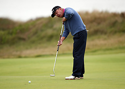 USA's Billy Mayfair on the 2nd green during day three of the Senior Open at Royal Porthcawl Golf Club.