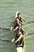 Seville, Andulucia, SPAIN<br /> <br /> 2002 World Rowing Championships - Seville - Spain Wednesday 18/09/2002<br /> <br /> <br /> USA LM4-. Bow. TETI, Paul<br /> <br /> WINKLER<br /> <br /> TODD, Patrick<br /> <br /> WARNER<br /> <br /> [Mandatory Credit:Peter SPURRIER/Intersport Images]