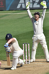 March 26, 2018 - Auckland, Auckland, New Zealand - BJ Watling of Blackcaps reacts while Jonathan Bairstow of England bats is during Day Five of the First Test match between New Zealand and England at Eden Park in Auckland on Mar 26, 2018. (Credit Image: © Shirley Kwok/Pacific Press via ZUMA Wire)