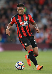 """AFC Bournemouth's Jordon Ibe during the Premier League match at the Vitality Stadium, Bournemouth. PRESS ASSOCIATION Photo. Picture date: Wednesday April 18, 2018. See PA story SOCCER Bournemouth. Photo credit should read: Adam Davy/PA Wire. RESTRICTIONS: EDITORIAL USE ONLY No use with unauthorised audio, video, data, fixture lists, club/league logos or """"live"""" services. Online in-match use limited to 75 images, no video emulation. No use in betting, games or single club/league/player publications."""