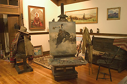 WY: Wyoming, Cody: Buffalo Bill Historical Center...Whitney Museum of Western Art.  W. H. D. Hoerner Studio..Photo #: yellow618..Photo copyright Lee Foster, 510/549-2202, lee@fostertravel.com, www.fostertravel.com..