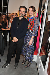 INACIO RIBEIRO and SUSANNE CLEMENTS at a dinner hosted by Carmen Haid at Atelier Mayer, 47 Kendal Street, London W2 on 21st February 2012.