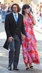 Joe Wicks and his wife Rosie arriving at York Minster for the wedding of singer Ellie Goulding to Caspar Jopling.