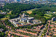 Nederland, Gelderland, Arnhem, 29-05-2019; de wijk Alteveer-Kraneveld met Rijnstate ziekenhuis.<br /> Rijnstate hospital.<br /> <br /> luchtfoto (toeslag op standard tarieven);<br /> aerial photo (additional fee required);<br /> copyright foto/photo Siebe Swart