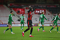 Football - 2020 / 2021 Sky Bet Championship - AFC Bournemouth vs. Preston North End - The Vitality Stadium<br /> <br /> Bournemouth's Jaidon Anthony misses a big chance late on to level the match at the Vitality Stadium (Dean Court) Bournemouth <br /> <br /> COLORSPORT/SHAUN BOGGUST