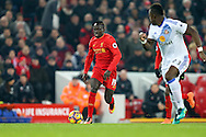 Sadio Mane of Liverpool (l) in action. Premier League match, Liverpool v Sunderland at the Anfield stadium in Liverpool, Merseyside on Saturday 26th November 2016.<br /> pic by Chris Stading, Andrew Orchard sports photography.