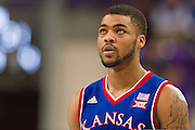 FORT WORTH, TX - FEBRUARY 6: Frank Mason III #0 of the Kansas Jayhawks looks on against the TCU Horned Frogs on February 6, 2016 at the Ed and Rae Schollmaier Arena in Fort Worth, Texas.  (Photo by Cooper Neill/Getty Images) *** Local Caption *** Frank Mason III