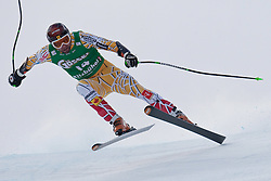 21.01.2011, Hahnenkamm, Kitzbuehel, AUT, FIS World Cup Ski Alpin, Men, Super G, im Bild Manuel Osborne-Paradis (CAN) takes to the air competing in the 2011 Hahnenkamm Super Giant Slalom race (Super G)part of  Audi FIS World Cup races in Kitzbuhel Austria. EXPA Pictures © 2011, PhotoCredit: EXPA/ M. Gunn