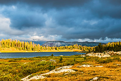 Stormy day at Little Bear Lake along the Beartooth Highway. The Beartooth Scenic Byway is one of the prettiest drives in the world.