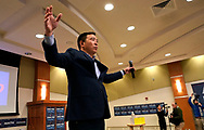 Democratic 2020 U.S. presidential candidate and entrepreneur Andrew Yang gestures after speaking at a town hall meeting in Sioux City, Iowa, January 27, 2020.     REUTERS/Rick Wilking