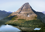 Hidden Lake, nestled below a perfect glacial horn, Glacier National Park, Montana, USA