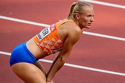 11-08-2017 IAAF World Championships Athletics day 8, London<br /> Sharona Bakker NED (100m horden) plaatst zich voor de halve finale.