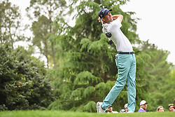 May 5, 2018 - Charlotte, NC, U.S. - CHARLOTTE, NC - MAY 05: Chesson Hadley tees off during the 3rd round of the Wells Fargo Championship on May 05, 2018 at Quail Hollow Club in Charlotte, NC. (Photo by William Howard/Icon Sportswire) (Credit Image: © William Howard/Icon SMI via ZUMA Press)