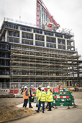 Trainees from the Construction Skills Centre, Southwark - training facility to deliver 'real life' construction experience particularly to those who live and work locally. South London UK 2017