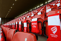 Over 12,000 scarves are laid out for fans during the FA Cup fourth round game against West Ham - Photo mandatory by-line: Dougie Allward/JMP - Mobile: 07966 386802 - 25/01/2015 - SPORT - Football - Bristol - Ashton Gate - Bristol City v West Ham United - FA Cup Fourth Round