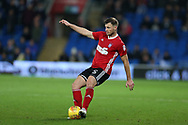 Tommy Smith of Ipswich Town in action. EFL Skybet championship match, Cardiff city v Ipswich Town at the Cardiff city stadium in Cardiff, South Wales on Tuesday 31st October 2017.<br /> pic by Andrew Orchard, Andrew Orchard sports photography.