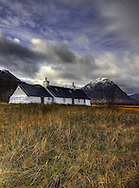 Black Rock Cottage with Buchaille Etive Mor in the background