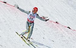 20.01.2018, Heini Klopfer Skiflugschanze, Oberstdorf, GER, FIS Skiflug Weltmeisterschaft, Einzelbewerb, im Bild Richard Freitag (GER) // Richard Freitag of Germany during individual competition of the FIS Ski Flying World Championships at the Heini-Klopfer Skiflying Hill in Oberstdorf, Germany on 2018/01/20. EXPA Pictures © 2018, PhotoCredit: EXPA/ JFK