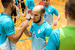 Osredkar Igor of Slovenia congratulates his team during friendly futsal match between National teams of Slovenia and France on February 6, 2019 in Bonifika, Koper / Capodistra, Slovenia. Photo by Matic Ritonja / Sportida