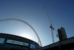 A general view of the outside of Wembley Stadium
