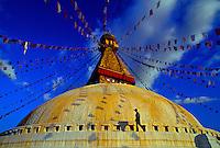 Boudhanath Stupa (holiest site in Nepal for Tibetan Buddhists), Kathmandu, Nepal