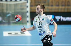 Marko Kotar of Trimo Trebnje during handball match between RK Trimo Trebnje and Rhein-Neckar Loewen in 6th Round of EHF Europe League 2020/21, on February 9, 2021 in Hala Tivoli, Ljubljana, Slovenia. Photo by Vid Ponikvar / Sportida
