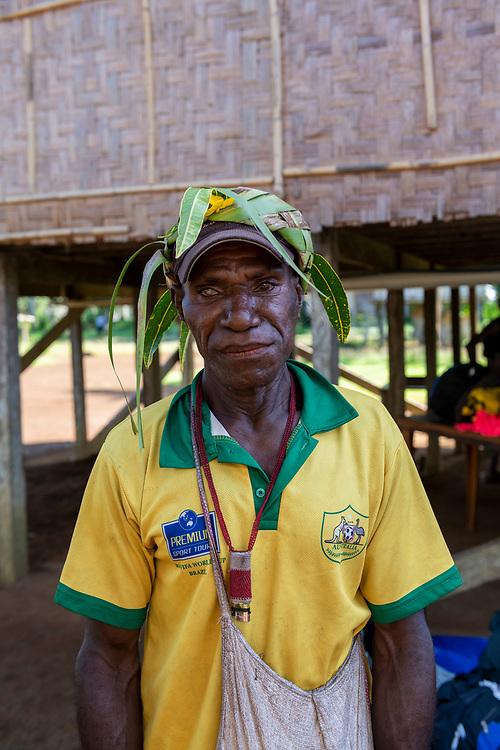 Portrait of Sopam in Likan, East Sepik Province, Papua New Guinea<br /><br />(June 20, 2019)