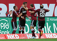 1:0 Jubel v.l. Robert Mak, Torschuetze Tomas Pekhart, Timmy Simons, Javier Pinola (Nuernberg)<br /> Fussball Bundesliga, 1. FC Nürnberg - Borussia Dortmund<br /> <br /> Norway only