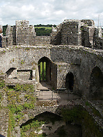 The Blarney Castle. The Blarney stone in this castle has been kissed by visitors for over a hundred years, the ledgend being that to do so gives you the gift of eloquent and persuasive speech
