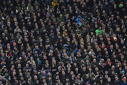 September 16, 2017 - Auckland, New Zealand - Huge crowds support their teams during the Rugby Championship test match between the New Zealand All Blacks and the South Africa Springboks at QBE stadium in Auckland on Sep 16, 2017. All Blacks beats Springboks 57-0. (Credit Image: © Shirley Kwok/Pacific Press via ZUMA Wire)