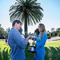 Caroline Wozniacki of Denmark after winning the 2018 Australian Open at Rod Laver Arena in Melbourne, Australia on Sunday morning January 28, 2018.<br /> (Ben Solomon/Tennis Australia)
