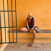 """Granada, Spain young girl relaxes.<br /> <br /> For all details about sizes, paper and pricing starting at $85, click """"Add to Cart"""" below."""
