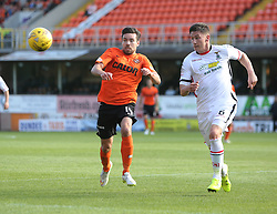Dundee United's Ryan Dow and Inverness Caledonian Thistle's Josh Meekings. <br /> Dundee United 1 v 1 Inverness Caledonian Thistle, SPFL Ladbrokes Premiership game played 19/9/2015 at Tannadice.