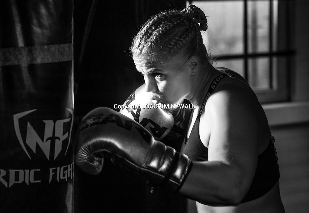 20210913 Göteborg Bulldog training center<br /> <br /> Prooffsboxaren Marianne Ahlborg<br /> <br /> Foto: Joachim Nywall<br /> Fotografens namn skall alltid stå vid bilden