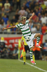 August 23, 2017 - Bucharest, Romania - Fabio Coentrao, Sporting  during the UEFA Champions League play-offs 2nd leg football match between FC Steaua Bucharest and Sporting Lisbon at the National Arena Stadium, in Bucharest, Romania on August 23, 2017. (Credit Image: © Alex Nicodim/NurPhoto via ZUMA Press)