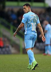 Coventry City's Jonson Clarke-Harris prepares for a goal kick
