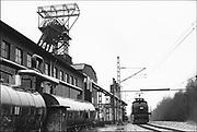 Duitsland, Essen, 10-12-1986De Zeche Zollverein. Eind 1986 stopte hier de kolenwinning.Het complex is blijven staan,en tot industrieel monument en cultuurcentrum getransformeerd.Foto: Flip Franssen/Hollandse Hoogte
