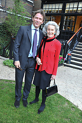 DR ROBIN HART and PRINCESS GEORGE GALITZINE at a reception hosted by the Friends of the Castle of Mey held at the Goring Hotel, Beeston Place, London on 22nd May 2012.