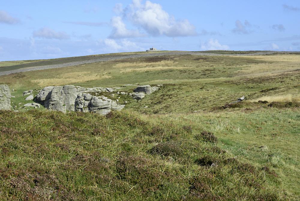 Lundy, Devon with Tibbett's in background
