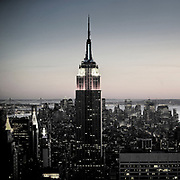 The empire State Building seen from the top of the rock observatory
