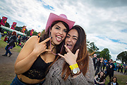 NO FEE PICTURES                                                                                                                                                8/6/19 Roisin Page, Dublin and Monique Princau, Malta at Metallica's sold out concert, with 75,000 fans at Slane Castle in Co Meath. Picture: Arthur Carron
