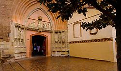 The entrance door of the Eglise Saint Nicolas in the Grande Rue Saint-Nicolas, Toulous, France<br /> <br /> (c) Andrew Wilson | Edinburgh Elite media