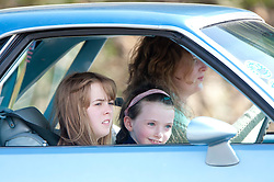 """Brad Pitt's younger co-star's being driven on the set of the movie """"World War Z"""" being shot today in Grangemouth, Scotland. The film, which is set in Philadelphia, is being shot in various parts of the Glasgow, transforming it to shoot the post apocalyptic zombie film.."""