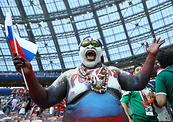 July 1, 2018 - Moscow, Russia - Round of 16 Russia v Spain - FIFA World Cup Russia 2018.Russia supporter at Luzhniki Stadium in Moscow, Russia on July 1, 2018. (Credit Image: © Matteo Ciambelli/NurPhoto via ZUMA Press)