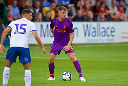BIRKENHEAD, ENGLAND - Tuesday, July 10, 2018: Liverpool's Ben Woodburn during a preseason friendly match between Tranmere Rovers FC and Liverpool FC at Prenton Park. (Pic by Paul Greenwood/Propaganda)
