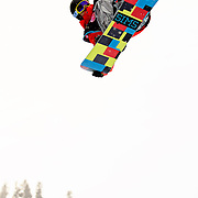 US Snowboarding Team member Steve Fisher competes in the half pipe during finals at the 2009 LG Snowboard FIS World Cup at Cypress Mountain, British Columbia, on February 16th, 2009. Fisher finished 10th in a field of 70.