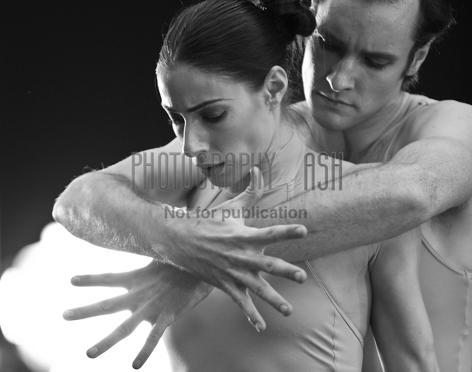 James Streeter & Tamarin Stott dance in a piece choreographed by Stina Quagebeur for English National Ballet's choreographics workshop. 25 October, 2010. Photo: Amber Hunt