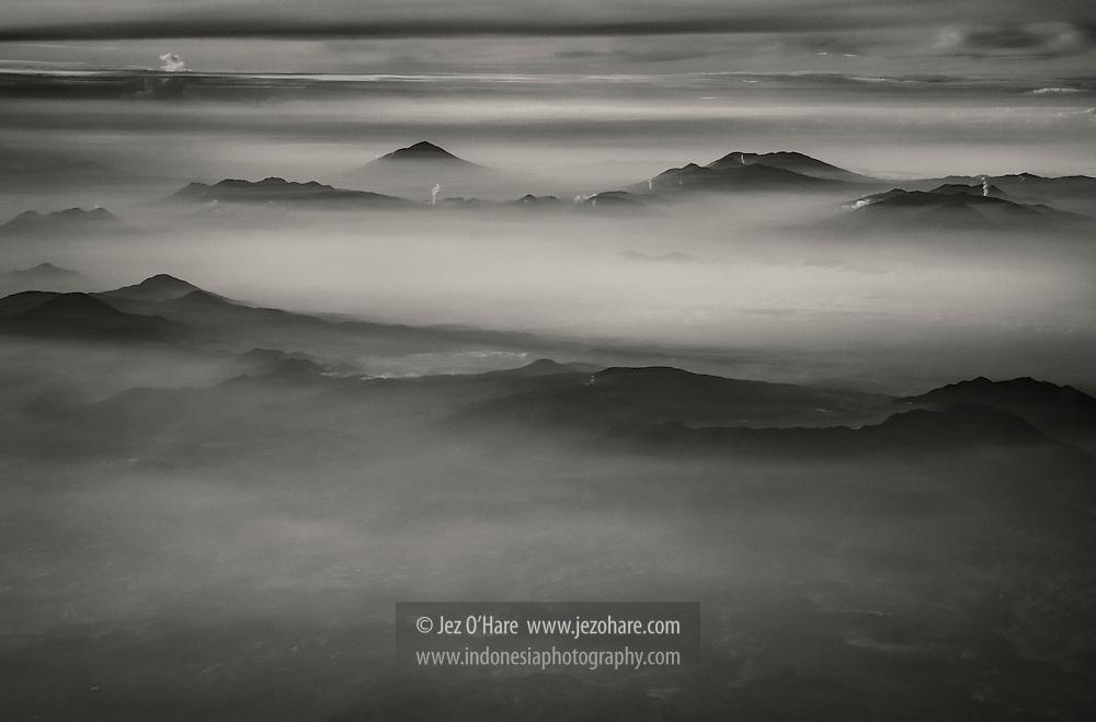 Mountains surrounding Bandung, West Java, Indonesia