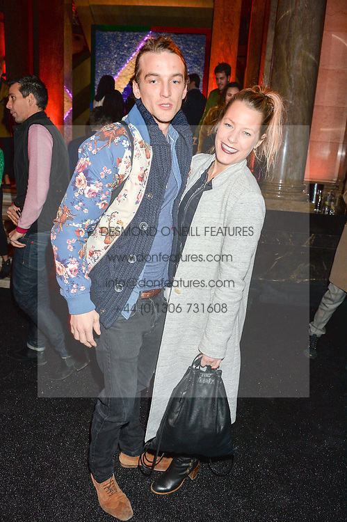 DAVINA HARBORD and CONRAD GAMBLE at the Warner Music Group & Ciroc Vodka Brit Awards After Party held at The Freemason's Hall, 60 Great Queen St, London on 24th February 2016.